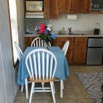 kitchen table in cabin